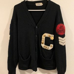 Vintage New Era Varsity Wool Captain Cardigan 1977